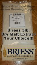3lb. BRIESS Dry Malt Extract, Dry Malt Extract, Malt Extract, DME, YOUR CHOICE!!