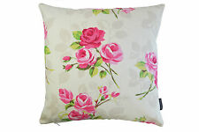 Clarke & Clarke Nancy Shabby Chic Fabric Cushion Cover-Vintage Retro-50s Chintz