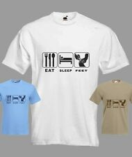 Eat Sleep Chiropodist Feet Funny T-shirt in all Sizes and choice of colours