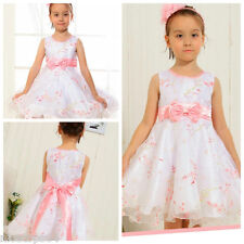P188A Pinks Floral Wedding Party Flowers Girls Pageant Dresses SIZE 5-6-7-8-9-10