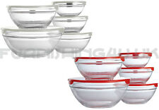 SET OF 5 PIECE GLASS FOOD CONTAINERS STORAGE BOWL SET WITH LIDS