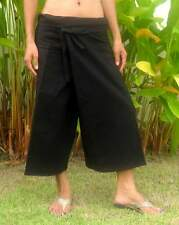 Capri 3/4 Thai Fisherman Pants/Hose*Wickelhose*Umstand*Massage*M - XXL*Baumwolle