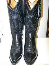 NEW LUCCHESE T3094 BLACK SOFT LONESTAR CALF COWBOY BOOT J OR R TOE MADE IN TEXAS