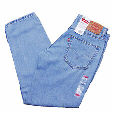Levis 550 Jeans LIGHT STONEWASH BLUE 4834 ZIP FLY Relaxed Fit Jean