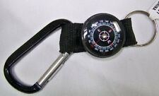 Compass Carabiner Keychain CARABINER IS NOT INTENDED TO BEAR WEIGHT.