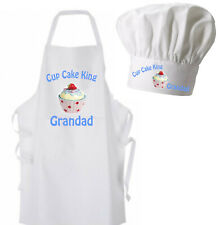 Cup Cake King Personalised Apron - Adults With or Without Pockets + Childs sizes
