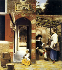 The Courtyard of a House in Delft 1658 by Pieter de Hooch Fine Art repo FREE S/H