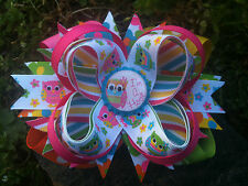 HOOT OWL BOTTLECAP HAIRBOW WITH OPTIONS
