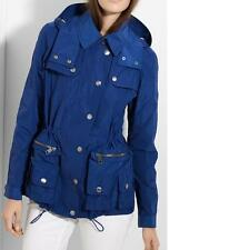 NWT Burberry Brit Packable Anorak Coat $695 Size 2 6 10 or 8P Jet Blue