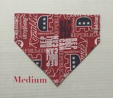 Over Collar Slide On Pet Dog Bandana Scarf Republican Party Romney Gingrich