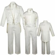 NEW Boy Wedding Baptism Recital Formal Party Tuxedo Suit size: 14 16 18 20 Ivory
