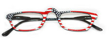 READING GLASSES Stars and Stripes Patriotic Readers Half Eye Hand Painted Frames