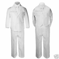 NEW Baby,Toddler & Boy Weding Baptism Communion Formal Tuxedo Suit white sz:S-20