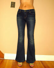 $158 Juicy Couture Jeans Flare Leg Mid-Rise Vintage Dark Wash Strch 25,26,28 NWT