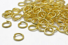 THICK, STRONG 400 x 0.8MM SILVER/GOLD JUMPRINGS, 4MM,5MM,6MM,7MM PREMIUM QUALITY