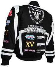 Oakland Raiders Black-Silver 3-TimeSuper Bowl  Commemorative Jacket by G-III