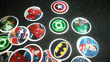 Pre Cut One Inch COMIC SUPER HEROES BOTTLE CAP IMAGES!  MUST SEE