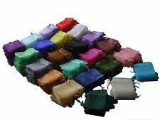12/25/50/100 PCS Organza Bags/Jewlery Gift Pouch 10x7.5cm=4x3inch 23 colors AH01