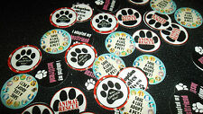 Pre Cut One Inch ANIMAL RESCUE ADOPT A PET BOTTLE CAP IMAGES!  MUST SEE