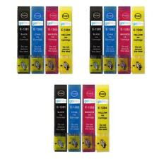 12 Ink Cartridges non-OEM to replace T1281 T1282 T1283 T1284 (T1285) Compatible