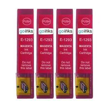 4 Magenta Ink Cartridges non-OEM to replace T1293 (Apple) Compatible for Printer