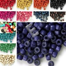 approx 1200pcs 3x4mm Wood Dyed Wooden Donut Spacer Beads Jewelry Making DIY