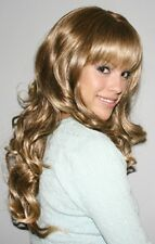 CARLOTTA BLACK BROWN BLONDE SEXY WOMAN LONG WAVY CURLY SHOWGIRL COSTUME WIG 3336