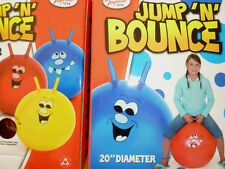Jump n Bounce Space Hopper Retro Balls Outdoor Toy Blue Red Yellow various sizes