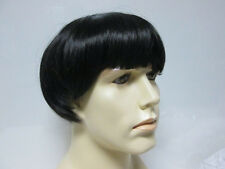 1960S 60'S 70'S BEATLES WIG DARK BROWN MOD MOP RETRO ROCK STAR MENS COSTUME WIG