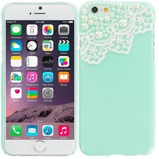 ★★★ CUTE BLING PEARL DECOR LACE HARD CASE COVER MULTI COLORS ★★★ IPHONE 4 4S ★★★