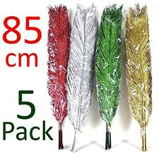 GLITTERY Artificial Dried PALM LEAVES!  85cm Tall!  Flowers Foliage Greenery!