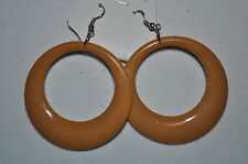 "Awesome 2"" Acrylic CIRCLE dangle Costume Fashion pierced wire post earrings"