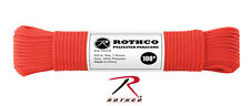 Rothco's 550LB POLYESTER 100 FT PARACORD colors avail.
