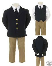 NEW Baby,Toddler & Boy Easter Formal Wedding Party Tuxedo Suit Navy Sz 1-16