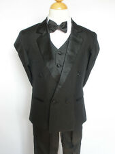 New Baby Boy & Toddler Wedding Tuxedo Easter Formal Party Suit S M XL 2T Black