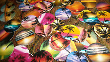 Pre Cut ISLAND PARADISE SUNSET One Inch Bottle Cap Images! MUST SEE