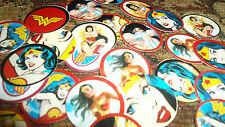 Pre Cut FEMALE SUPER HERO One Inch Bottle Cap Images! MUST SEE