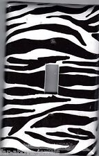 Light Switch Plate Switchplate & Outlet Covers JUNGLE ANIMAL ZEBRA BLACK WHITE