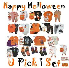 HALLOWEEN GIRLS BOYS OUTFITS SETS 2 3 4 PIECE COSTUMES BABY KIDS CHILDREN INFANT