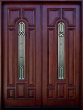 Mahogany 8ft Exterior Double Door Pre-hung&Finished, DMH8350-LP