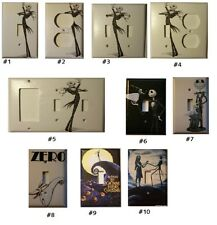 Single Standard size Lightswitch Cover--- Nightmare before christmas Jack & Zero