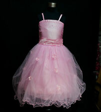 PP408 Light Pink Christmas Party Flowers Girls Pageant Dress AGE 2-3-4-5-6-7-8-9