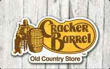 Cracker Barrel Gift Card $25 - $50 - Mail delivery
