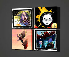 HEROES TV SERIAL 4 PANELS POP ART CANVAS PRINT MANY SIZES AVAILABLE FREE UK P&P