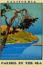 California Carmel by the Sea Ocean Tourism Travel Vintage Poster Repro FREE S/H