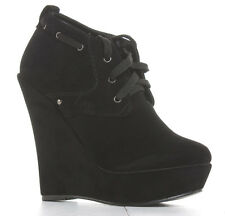 Womens Wedge Shoes Wedges High Heels Platform Short Booties Ankle Boots Size New