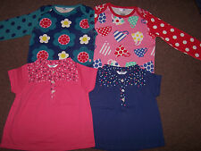 BABY GIRLS EX MINI BODEN TOP TSHIRT 0 3 6 12 18 24 2 3 4 FLORAL TEA CUPS