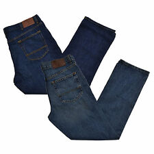 Tommy Hilfiger Jeans Mens Classic Fit Jean All Sizes Straight Leg Brown Patch