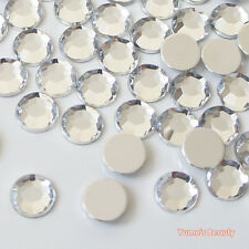 1000pcs Clear 2-10mm Acrylic Flatback Rhinestones Scrapbooking Nail Art Craft