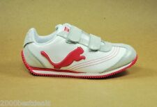 PUMA SPEEDER ILLUMINESCENT VELCRO CHILD SIZE WHITE PINK LIGHT UP SHOES 353288 02